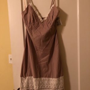 Summery dress with lace detail. NWT